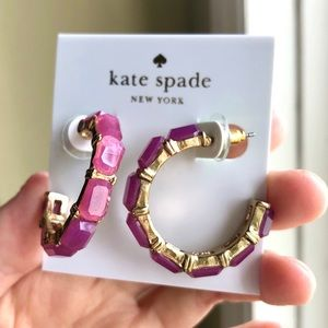 Kate Spade Resin Hoops Earrings